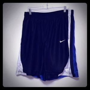 Men's Nike Black and Blue Athletic Shorts